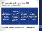 prevention logic for all biglan 1995 mayer 1995 walker et al 1996