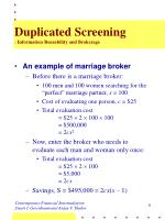 duplicated screening information reusability and brokerage
