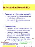 information reusability