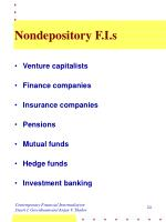 nondepository f i s