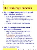 the brokerage function