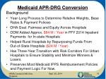medicaid apr drg conversion