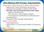 other medicare rac process improvements