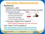state update medicaid expansion