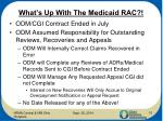 what s up with the medicaid rac