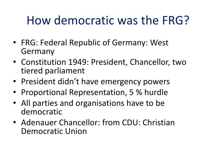 How democratic was the FRG?