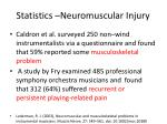 statistics neuromuscular injury