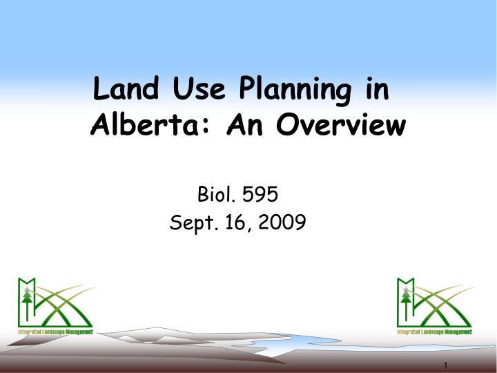 land use planning in alberta an overview n.