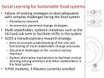 social learning for sustainable food systems