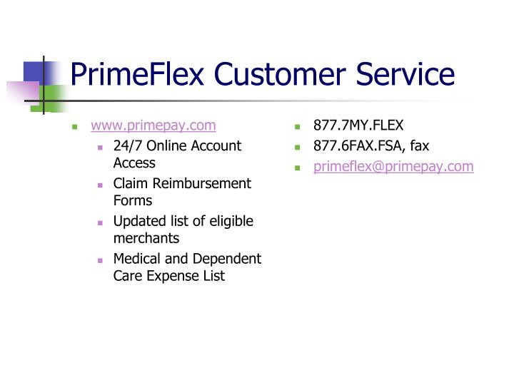 PrimeFlex Customer Service