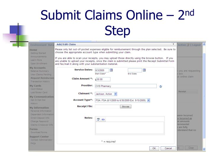 Submit Claims Online – 2