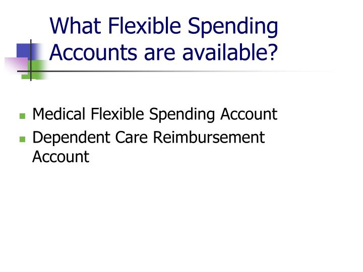 What flexible spending accounts are available