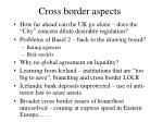 cross border aspects
