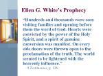 ellen g white s prophecy