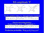 bs amplitude