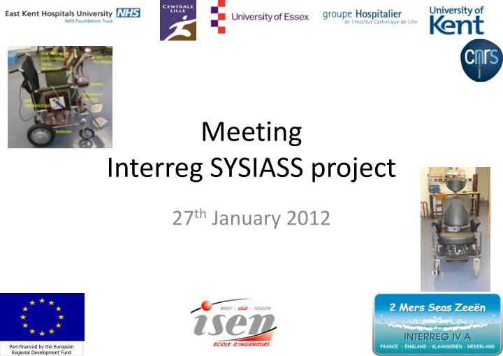 meeting interreg sysiass project n.