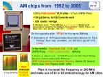 am chips from 1992 to 2005