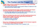the tracker and the trigger