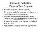 statewide evaluation value to your program