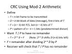 crc using mod 2 arithmetic