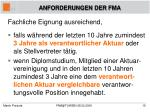 anforderungen der fma6