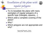 tessellation of the plane with regular polygons