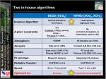 two in house algorithms