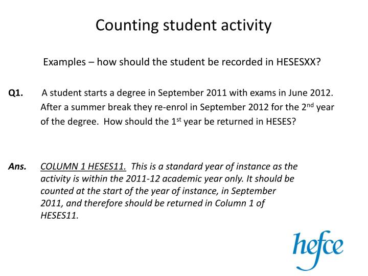 counting student activity n.