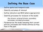 defining the base case