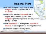regional plans