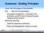 scenarios guiding principles