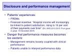 disclosure and performance management
