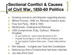 sectional conflict causes of civil war 1850 60 politics