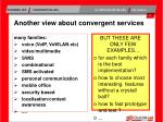 another view about convergent services