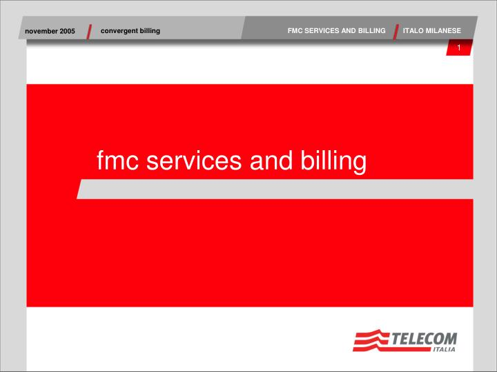 fmc services and billing n.