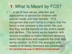 1 what is meant by fcs