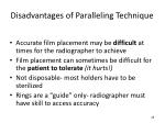 disadvantages of paralleling technique