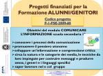 progetti finanziati per la formazione alunni genitori2