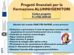 progetti finanziati per la formazione alunni genitori3