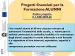 progetti finanziati per la formazione alunni1