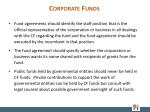 corporate funds