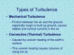types of turbulence