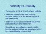visibility vs stability