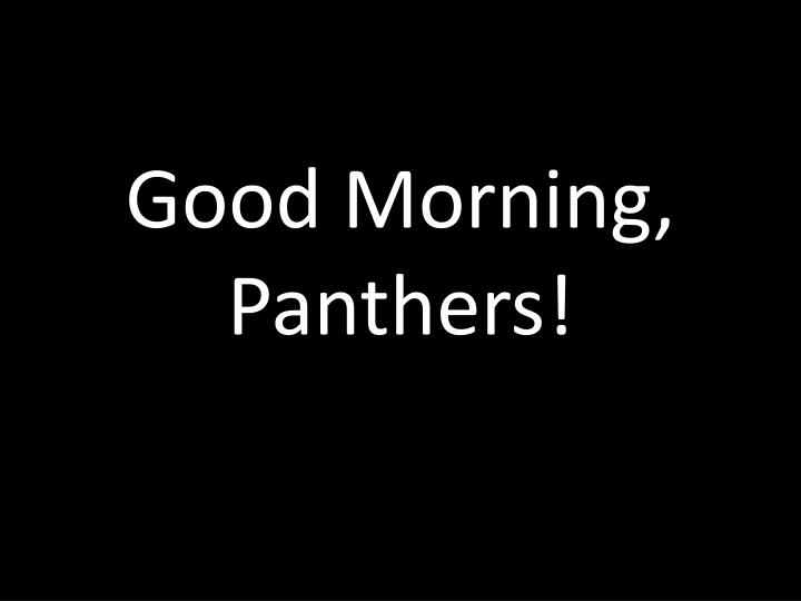 good morning panthers n.