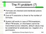 the fi problem 7