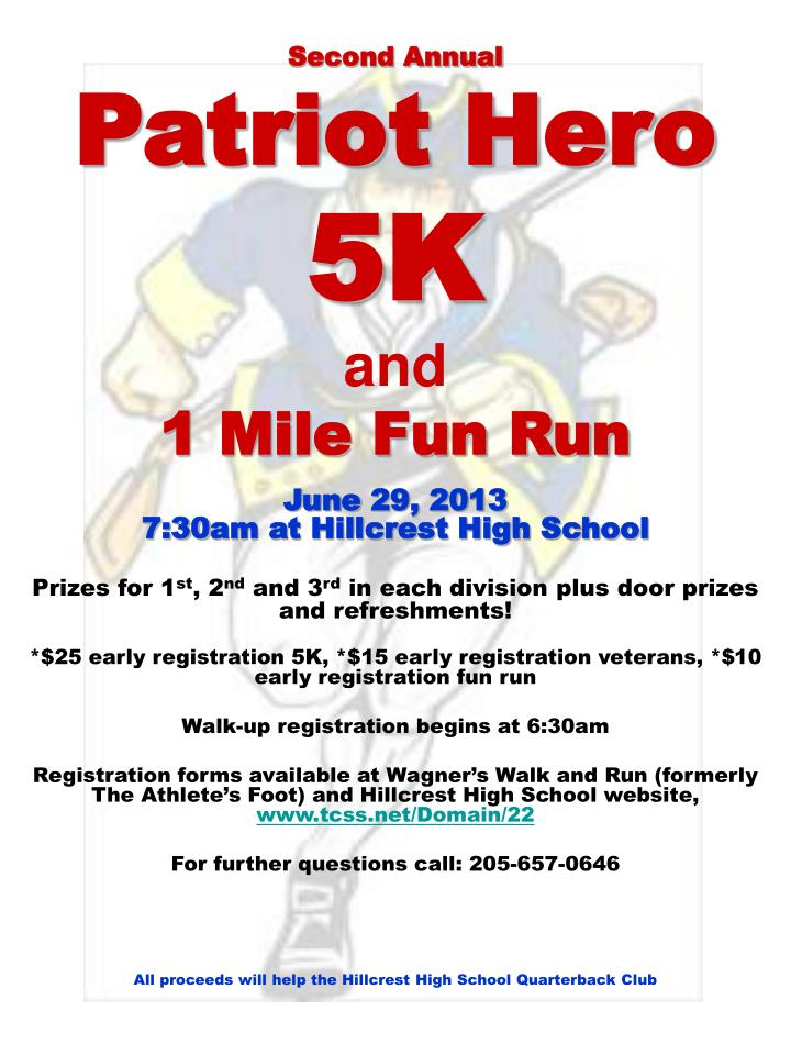 second annual patriot hero 5k and 1 mile fun run n.