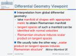 differential geometry viewpoint