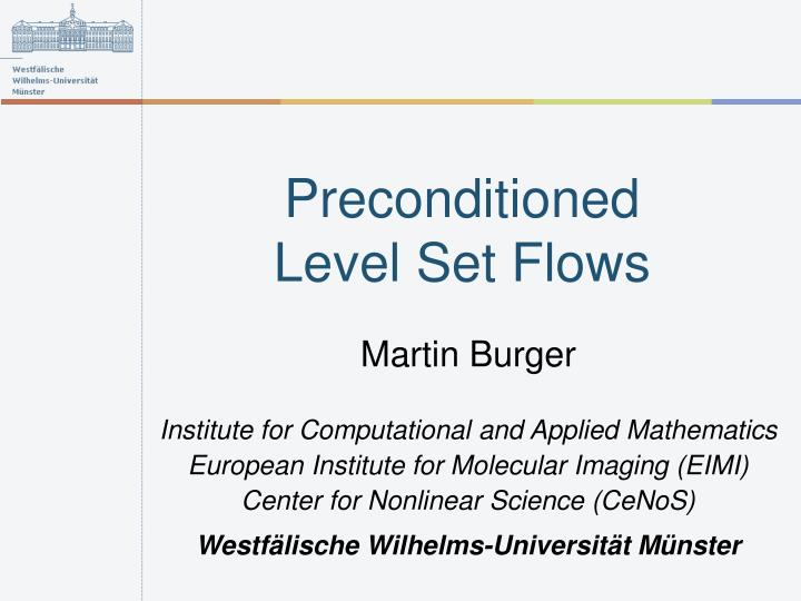 preconditioned level set flows n.