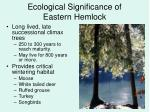 ecological significance of eastern hemlock