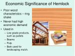 economic significance of hemlock